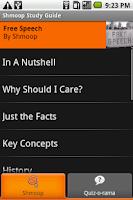 Screenshot of Free Speech: Shmoop Guide