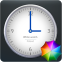 White Clock Widget icon