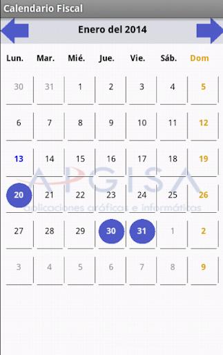 【免費生產應用App】Calendario Fiscal 2014-APP點子