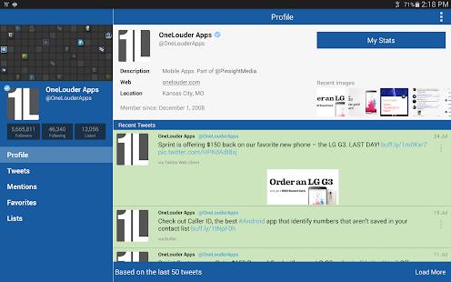 TweetCaster Pro for Twitter - screenshot thumbnail