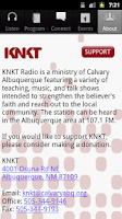 Screenshot of KNKT Radio