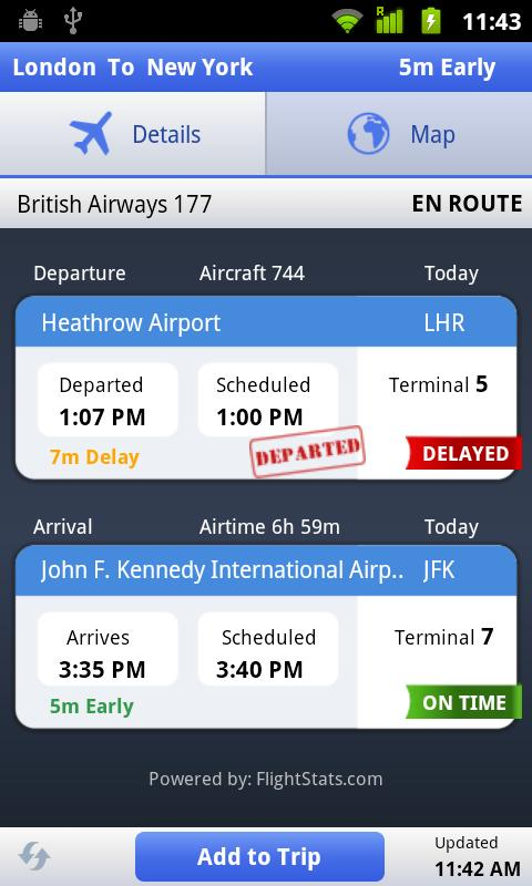 Flight Status - screenshot