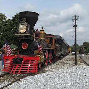 Steam into history 4th of July by Skye Stevens - Transportation Trains ( steam engine, locomotive, york, trains,  )