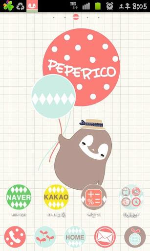 Pepe-balloon Go launcher theme