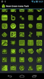 Neon Green Icons Pack - ADW GO- screenshot thumbnail