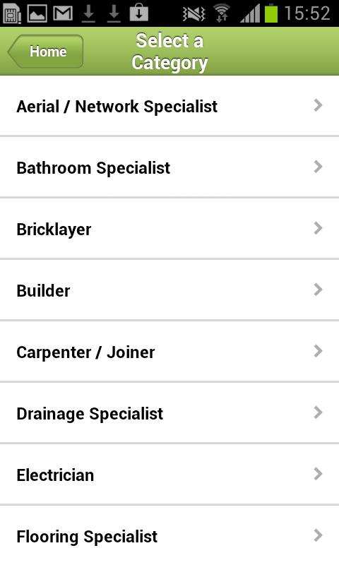 Find a Tradesman - screenshot
