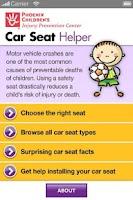 Screenshot of Car Seat Helper