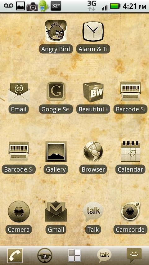 ADW Aged Paper Theme - screenshot