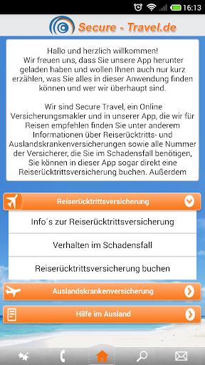 Secure-Travel Reise App