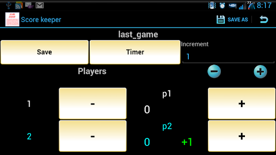 ScoreKeeper (Free) - screenshot thumbnail