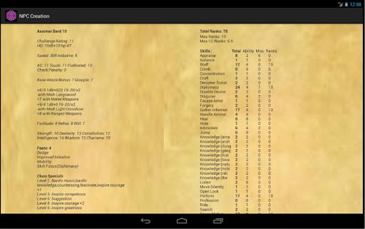 DnD 3.5 NPC Generator 3.5 screenshots 10