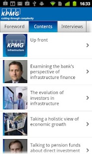 KPMG Infrastructure - screenshot thumbnail
