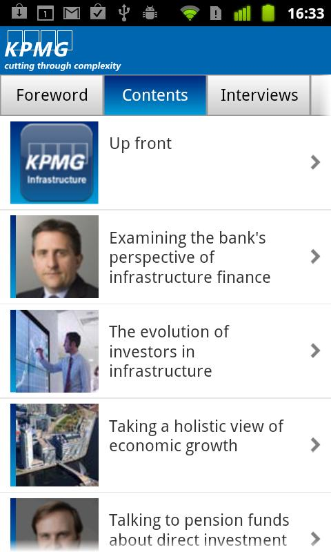 KPMG Infrastructure- screenshot