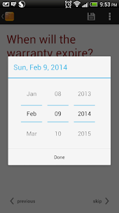Warranty Tracker- screenshot thumbnail