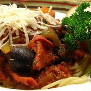 Meaty Spaghetti Sauce.