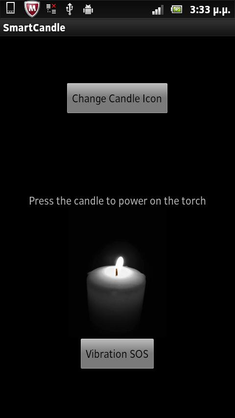 Smart Candle (torch + sos vib) - screenshot