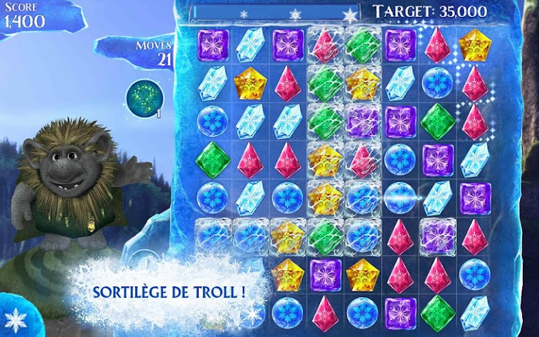 android La Reine des Neiges Free Fall Screenshot 15
