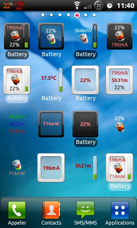 3C Battery Monitor Widget – Capture d'écran