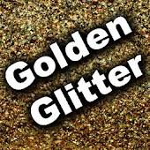 GO SMS Theme - Gold Glitter