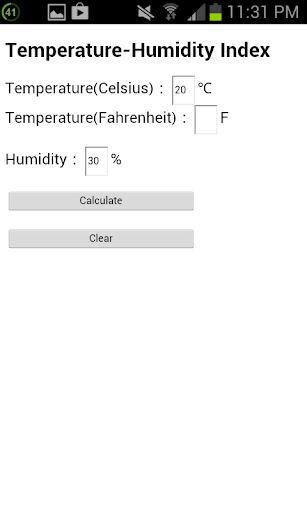 Temperature-Humidity Index