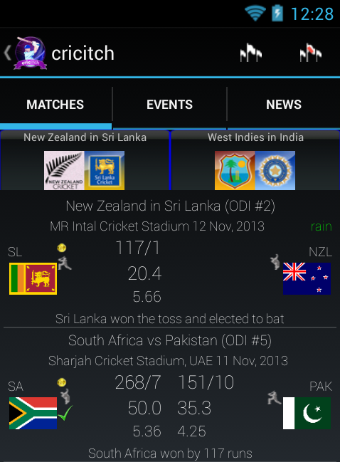 LIVE cricket Scores - screenshot