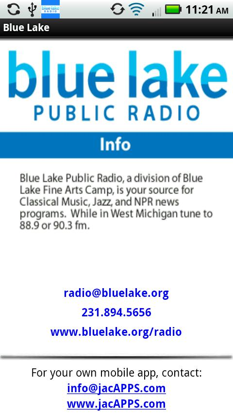 Blue Lake Public Radio- screenshot