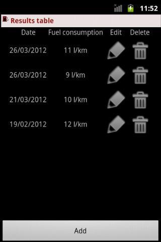 FuelCalculator- screenshot