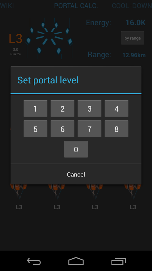 Ingress portals - screenshot