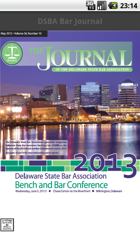 DSBA Bar Journal- screenshot