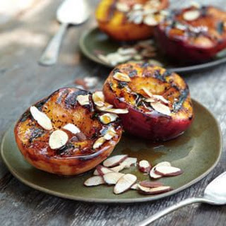 Maple-Glazed Peaches with Toasted Almonds