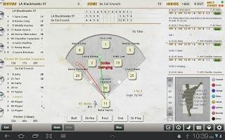 Screenshot of iScore Baseball/Softball