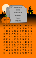 Screenshot of Halloween Word Search Game