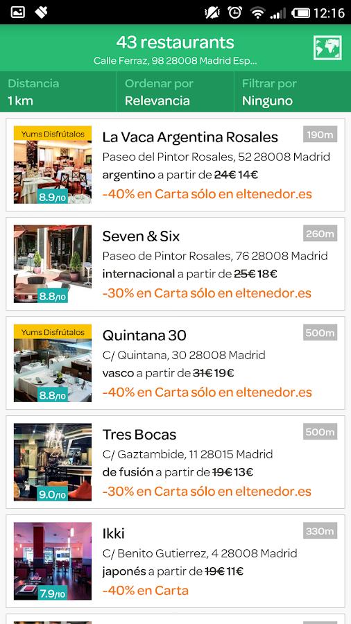 eltenedor  Restaurantes España - screenshot
