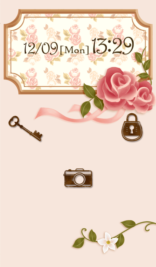 Cute wallpaper★Vintage rose - screenshot