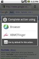 Screenshot of XBMCFlinger