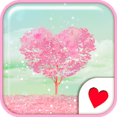 Cute wallpaper★Pink Heart Tree
