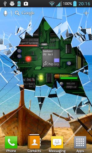 Cracked Screen Gyro 3D PRO Parallax Wallpaper HD 이미지[1]