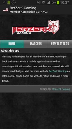 BerZerK Gaming - Members App