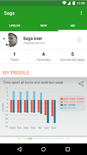 Saga — Automatic Lifelogging - screenshot thumbnail