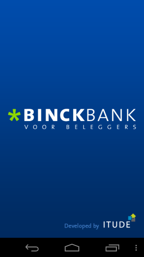 Binck beleggingsapplicatie- screenshot