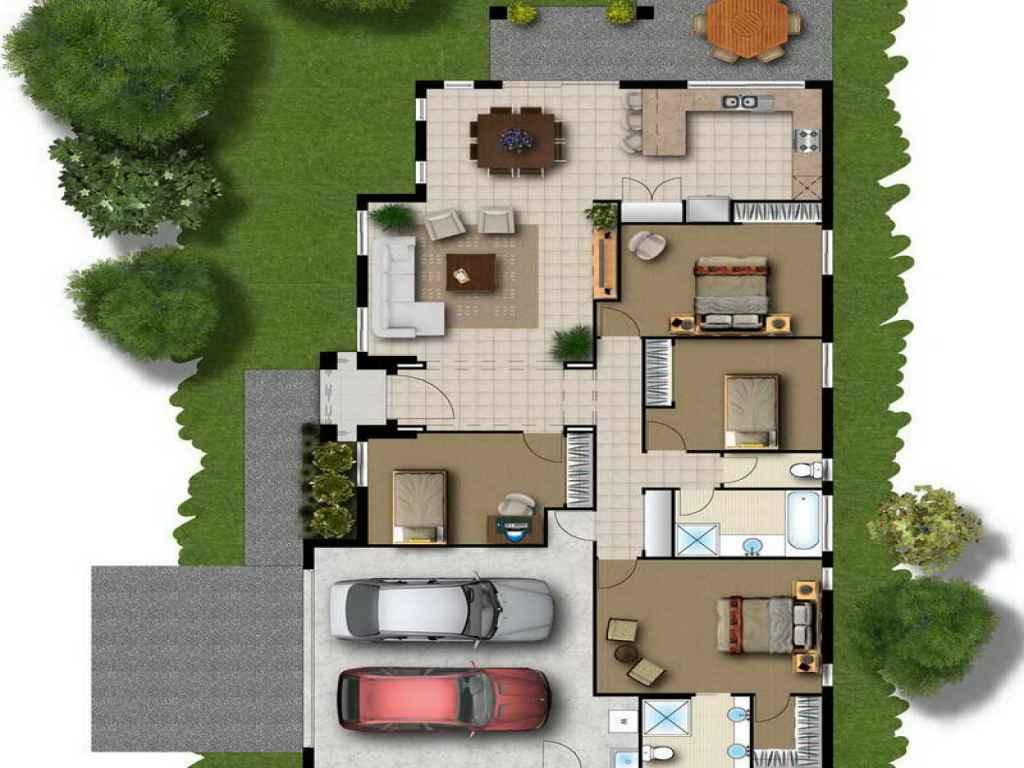 3D Modern Home Floor Plan Google Play Store revenue download