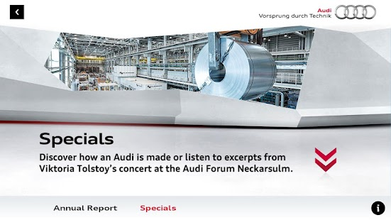 Audi 2012 Annual Report - screenshot thumbnail