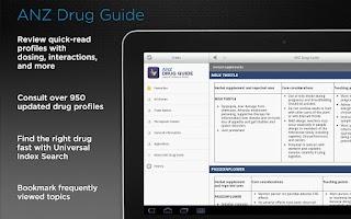 Screenshot of ANZ Drug Guide