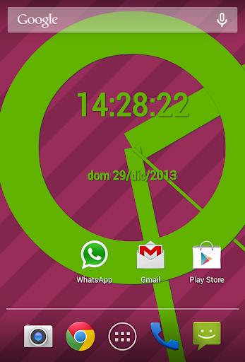 SuperFlat Clock LiveWallPaper