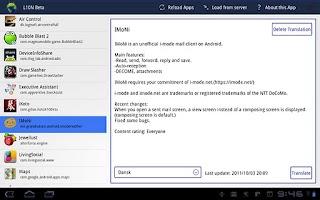 Screenshot of L10N Beta