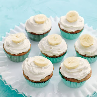 Banana Cupcakes with Honey-Cinnamon Frosting.