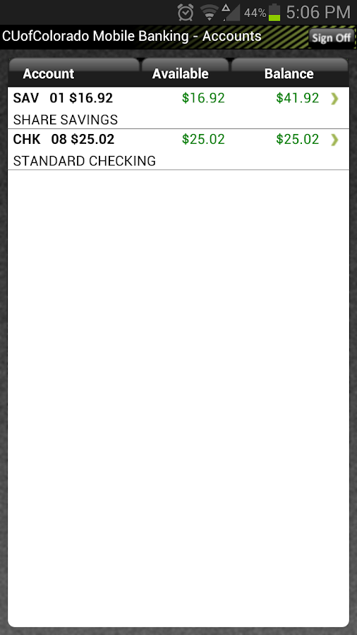 CU of Colorado Mobile Banking - screenshot