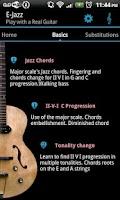 Screenshot of Jazz Guitar Lessons : E-Jazz