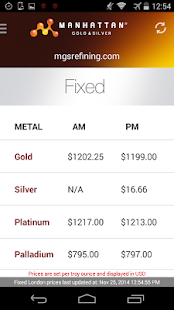 Precious Metal Prices- screenshot thumbnail