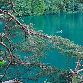 Blue lake by Plamen Valkovski - Landscapes Waterscapes